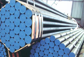 ASTM A335/ ASME SA335 P2 Alloy Steel Pipes packed in Aesteiron Steel's stockyard