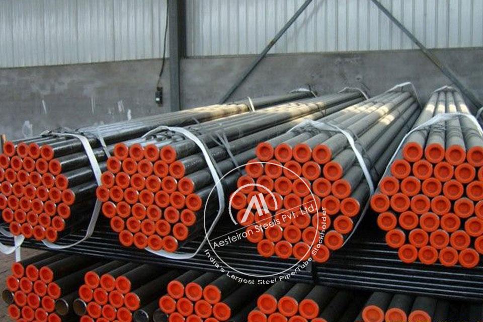 ASTM A335 P1 Alloy Steel Boiler Pipe in Aesteiron Steel Stockyard