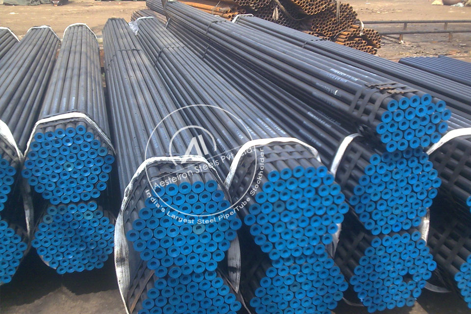 ASTM A335 P1 Alloy Steel Seamless Pipe in Aesteiron Steel Stockyard