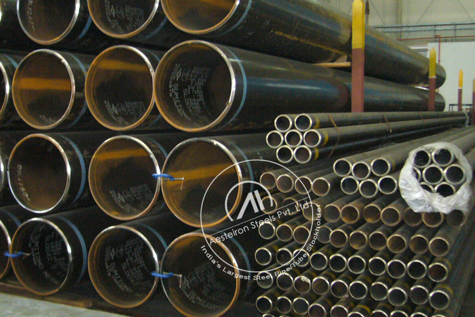 ASTM A335 P1 Chrome Moly Pipe in Aesteiron Steel Stockyard