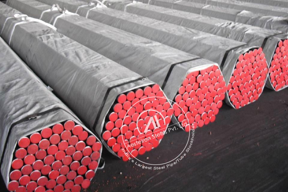ASTM A335 P2 Alloy Steel Pipe in Aesteiron Steel Stockyard