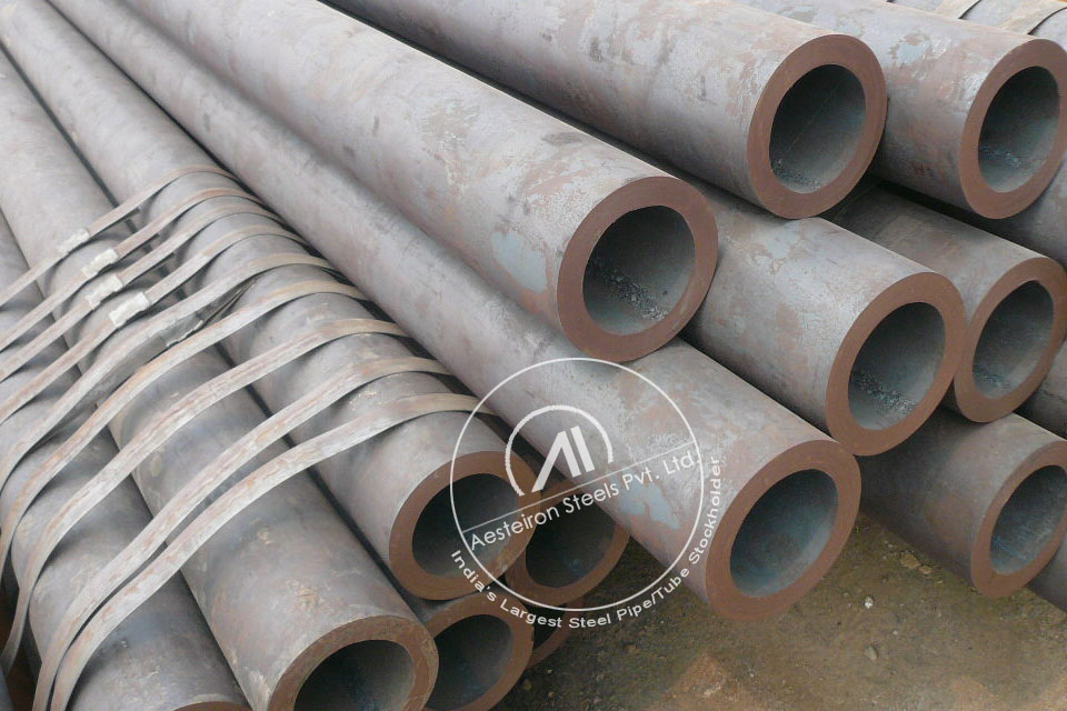ASTM A335 P9 Alloy Steel Boiler Pipe in Aesteiron Steel Stockyard