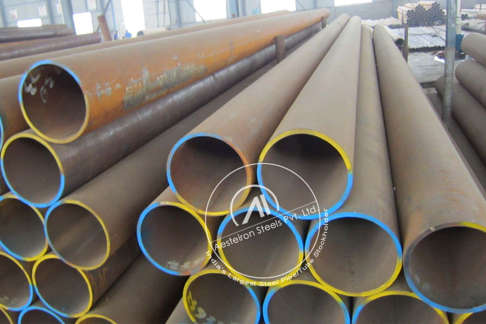 ASTM A335 P9 Alloy Steel Seamless Pipe in Aesteiron Steel Stockyard