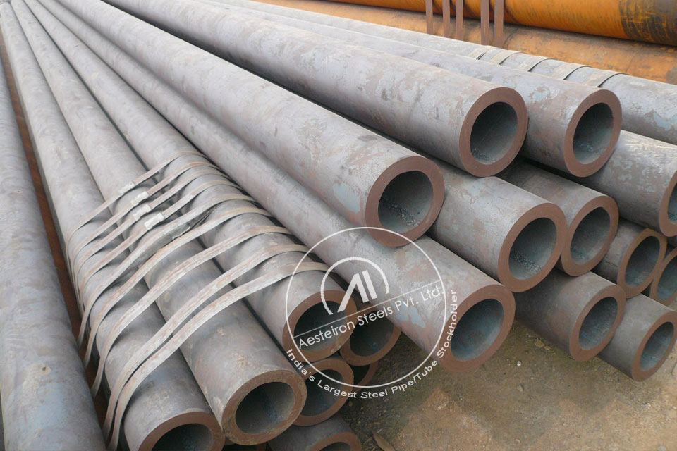 ASTM A335 P9 Chrome Moly Pipe in Aesteiron Steel Stockyard