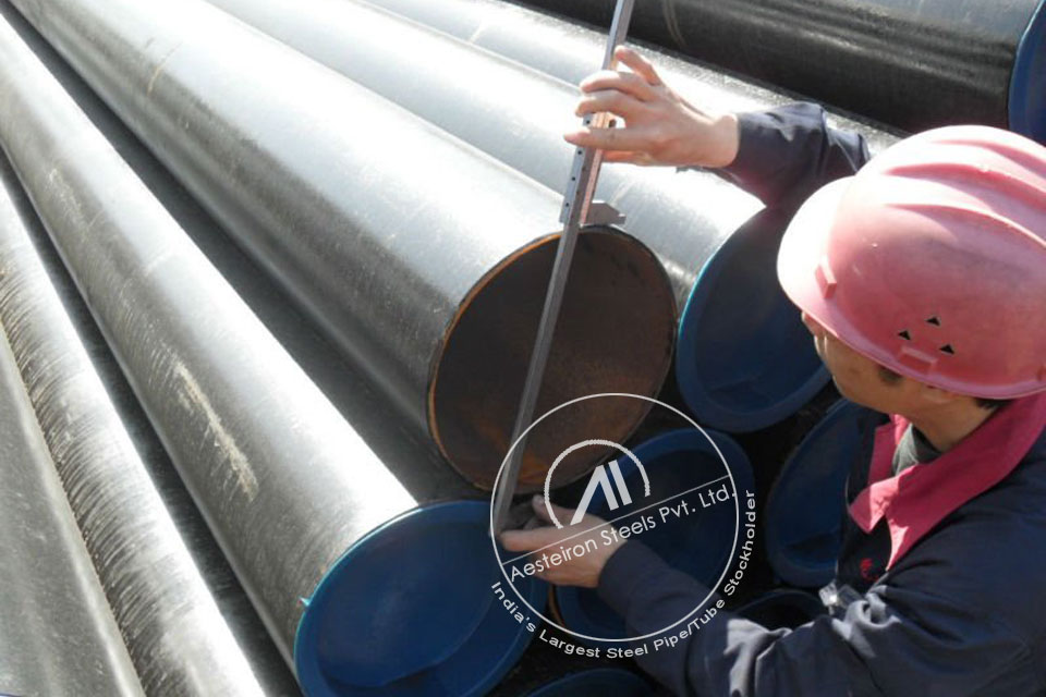 ASTM A335 P91 Alloy Steel Boiler Pipe in Aesteiron Steel Stockyard