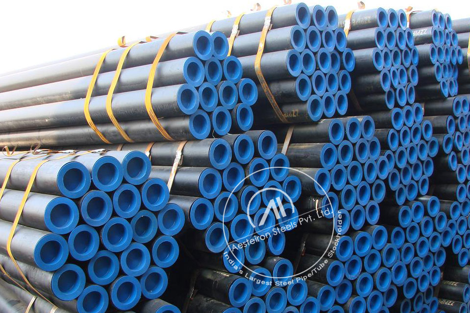 ASTM A335 P91 Alloy Steel Seamless Pipe in Aesteiron Steel Stockyard