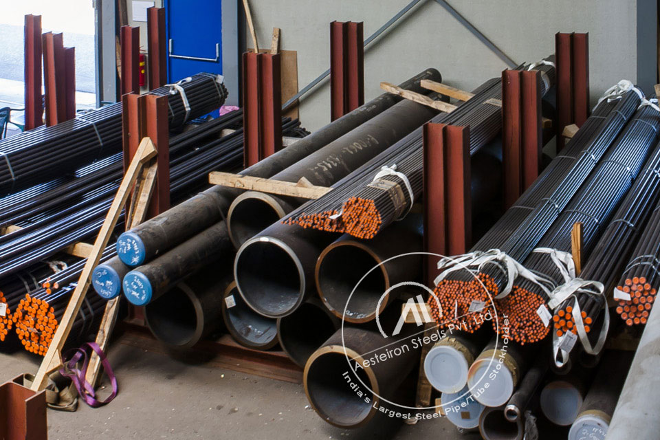 ASTM A335 P91 Chrome Moly Pipe in Aesteiron Steel Stockyard