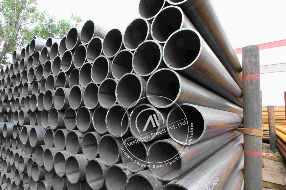 ASTM A369 FP9 Forged Pipe in Aesteiron Steel Stockyard