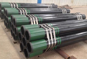API 5L X46 SAW Pipe packed in Aesteiron Steel's stockyard