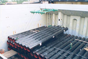 API 5L LSAW Pipes packed for shipping