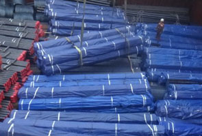 A135 grade B steel pipe packed for shipping