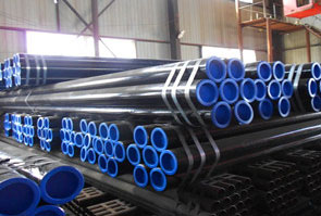 ASTM A333 Grade 6 Carbon Steel Seamless Pipe packed in Aesteiron Steel's stockyard
