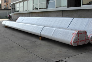 ASTM A376 ASME SA376 201 Stainless Steel Seamless Pipe packed for shipping