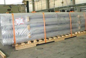 ASTM A851 ASME SA851 301L Stainless Steel Seamless Pipe packed for shipping