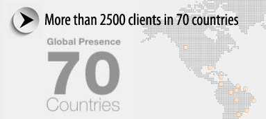 Global Presence in 70 countries
